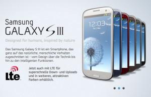 Samsung Galaxy S3 mit Vertrag jetzt abschließen
